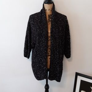 Forever 21 XXI Black Open Cozy Cardigan Sweater